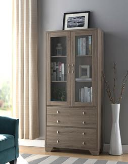171978 Smart Home Bookcase Display Cabinet with Drawers