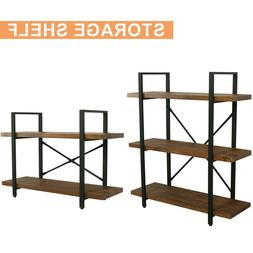 2/3 Tiers Industrial Shelf Shelving Iron Storage Shelves Bra