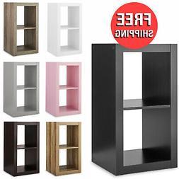 2 cube bookcase bookshelf storage shelves organizer