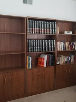 3 Ikea Bookcases, each with 3-Shelf and 2 Doors