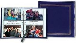 3-ring 2-up slip-in pocket NAVY-BLUE binder album for 400 ph