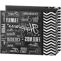 "3-Ring Binder Chalkboard Album, 12"" x 12"