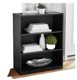 Black 3 Shelf Bookcase Tower Furniture Storage Organization