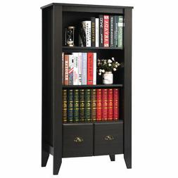3 Shelf Bookcase Bookshelf Adjustable Shelves Antique Organi