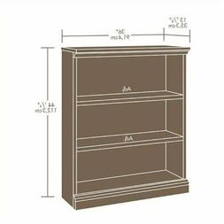 Bowery Hill 3 Shelf Bookcase in Planked Cherry