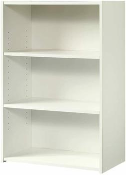 Shelf-3 Wood Bookcase, Wide Storage Book Display Bookshelf A