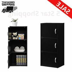 3 Shelf Cabinet Storage With door Kids Bedroom dorm Clothing