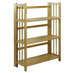 3 Shelf Folding Stackable Bookcase Home Office Furniture 27.