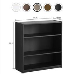 3 shelf wooden bookcase book storage display