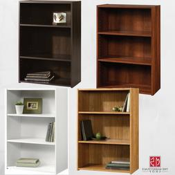 3 Shelf Wooden Bookshelf Bookcase Storage Display Shelves Ca
