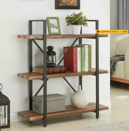 Homissue 3-Tier Industrial Bookcase And Book Shelves, Vintag