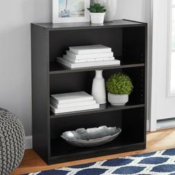 31 3 shelf bookcase black