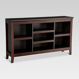 "Carson 32"" Horizontal Espresso Bookcase with Adjustable Shel"