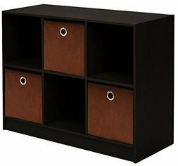 3x2 bookcase storage with bins stylish organizer