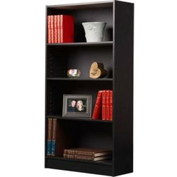 4 Shelf Bookcase  Adjustable Book Shelves Storage Bookshelf