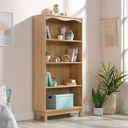 4-Shelf Dover Oak Finish Bookcase Durable Storage Organizer