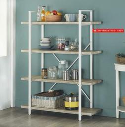 Homissue 4-Shelf Modern Style Bookshelf, Light Oak Shelves A