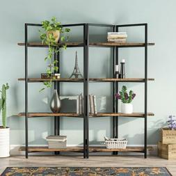 4 tier folding etagere bookshelf storage shelves