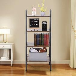 Ladder Shelf 4 Tier Metal Bookshelf Display Rack Plant Stand
