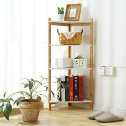 4 tier ladder shelf bookshelf bookcase storage