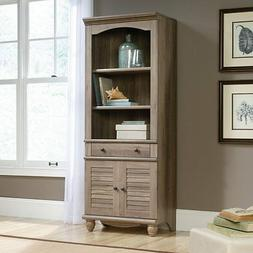 Sauder 419911 Harbor View Library Bookcase With Doors In Sal