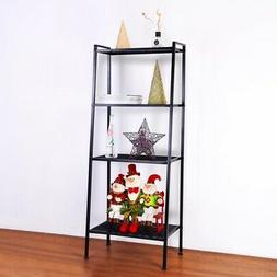 4Tier Leaning Ladder Shelf Display Shelving Bookshelf Storag