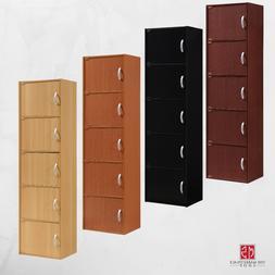 5 Door Storage Cabinet Shelf Organizer Bookcase Pantry Cupbo