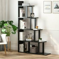 5-Shelf Ladder Corner Bookshelf 63'' H x 12'' W x 40'' L Ste