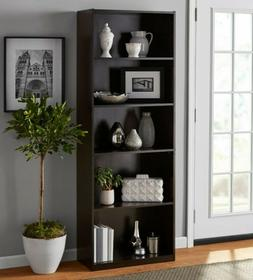 "Mainstays 71"" 5 Shelf Bookcase, Espresso Color, Brand New Ne"