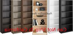 "71"" Adjustable 5-Shelf Bookcase Storage Shelving Book Wide B"