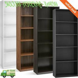 71 tall 5 shelf bookcase closed back