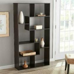 Mainstays 8 Cube Bookcase, Espresso, Color Brown, White, Fre