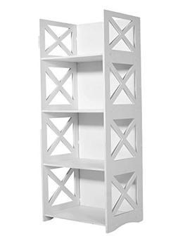 Dline - White Wood&Plastic Storage Shelf - Bookcase