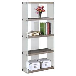Monarch specialties I 3060, Bookcase, Tempered Glass, Dark T