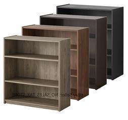 Adjustable 3-Shelf Wood Bookcase Storage Shelving Book Wide