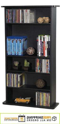 Adjustable 5-Shelf Wood Bookcase Storage Shelving Book Wide