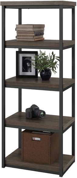 Ameriwood Home Ashlar Bookcase, Weathered Oak