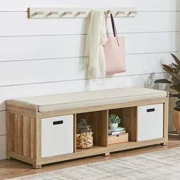 Better Homes and Gardens 4-Cube Organizer Storage Bench, Mul