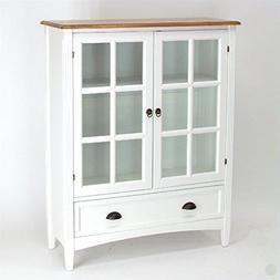 "Wayborn Home Furnishing Bookcase with Doors, 4"", White"