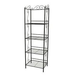 "Indigo Home Bookcase, 70""H, Copper Metal Etagere - I2103"
