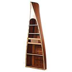 """Bookcase Book Shelf Canoe 90"""" Cedar Wood Strip Built Furnitu"""
