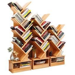 Bookcase Shelf Stand Display Cases Bookshelf Shelving Wood S