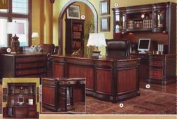 Bookcase in Two Tone Warm Brown Finish
