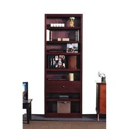 Concepts in Wood Bookcase with Fix Shelf/Drawer, Cherry Fini
