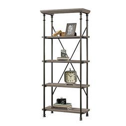 Sauder Canal Street 5-Shelf Bookcase In Northern Oak Finish