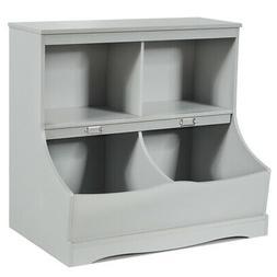 Children's Multi-Functional Bookcase Toy Storage Bin Kids Fl