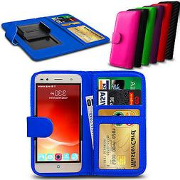 clip on pu leather flip wallet book