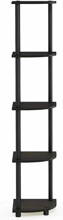 Corner Shelf Stand Display Shelves Rack Storage 5-Tier Bookc