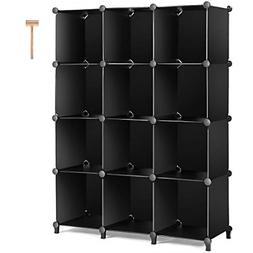TomCare Cube Storage 12-Cube Bookshelf Closet Organizer Stor