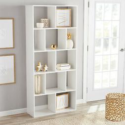 Cubed Bookcase Wood Shelves Display Stand Bookshelf Storage